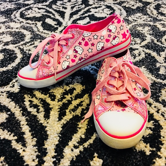 e3134ff18a7d Converse Other - Girls pink Hello Kitty sneakers shoes size 4